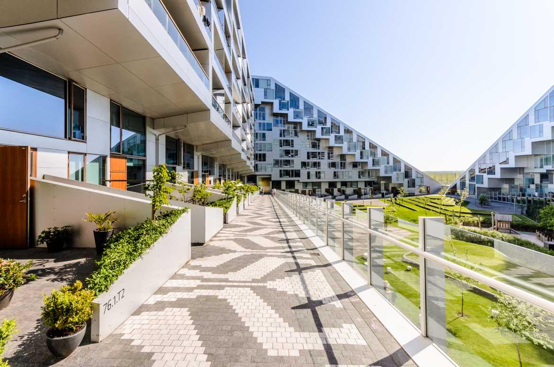 8-Tallet - modernes Appartementhaus - Architekturbüro Bjarke Ingels Group - Reportage im Auftrag von Novarc Images